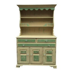 Distressed Green Cabinet And Hutch Home Office Products: Find Desks, Office Chairs, File ...