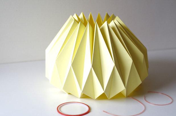 diy fabriquer un abat jour en origami. Black Bedroom Furniture Sets. Home Design Ideas