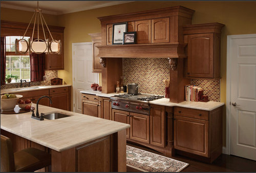 Contemporary dynamic style for Cherry vs maple kitchen cabinets
