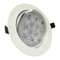 Commercial Electric 4 In. Recessed White Gimbal Led Trim Cer4742Wh Lighting | Houzz