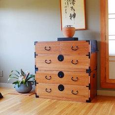 2 section kiri wood isho dansu japanese style clothing chest dresser tansu asian style furniture korean antique style 49