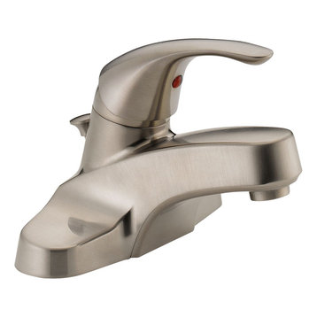 delta 200 single handle lever wall mount kitchen faucet