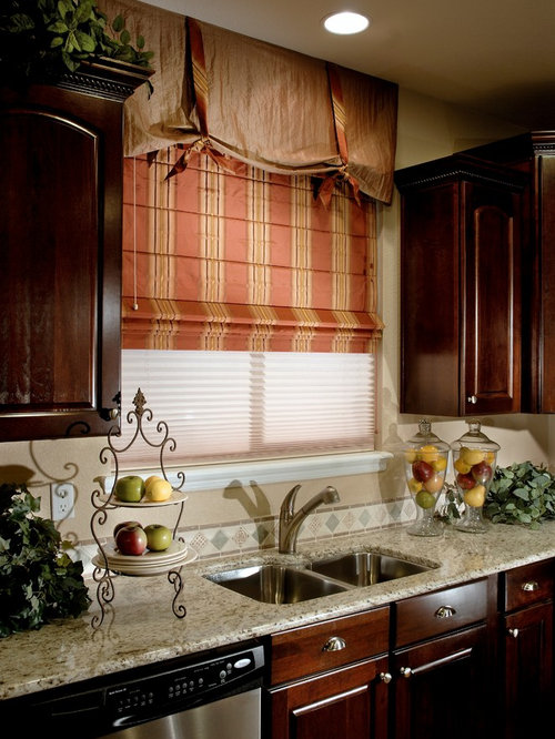 Kitchen window treatments blinds shutters shades for Kitchen shades and blinds