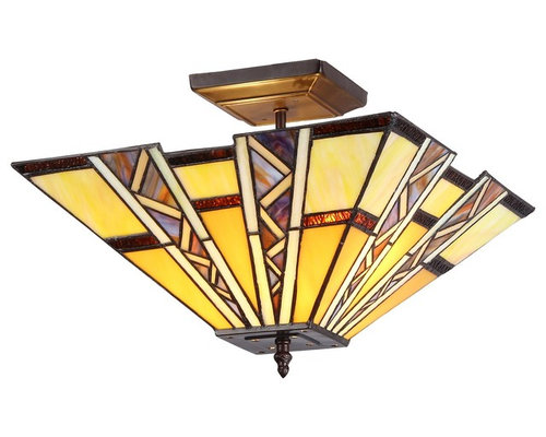 lighting progressive 2 light mission semi flush ceiling fixture