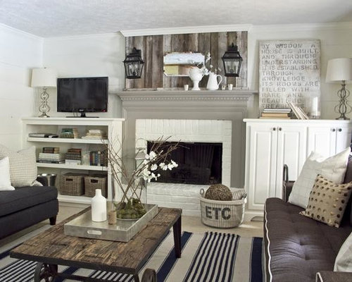 Farmhouse Family Room Design Ideas Remodels Photos Houzz