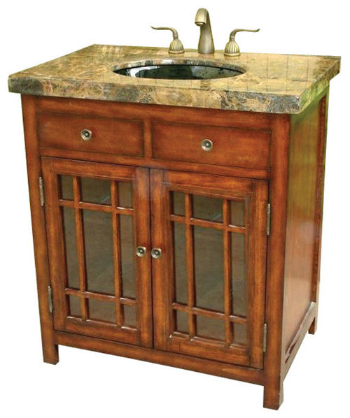 Perfect 50 Inch Antique Style Bathroom Vanity Fully Assembled  Vanities