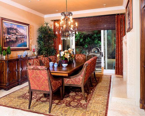 esszimmer mit marmorboden mediterran einrichten ideen. Black Bedroom Furniture Sets. Home Design Ideas