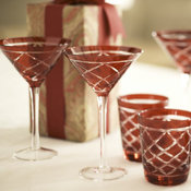 Red Cut Glassware