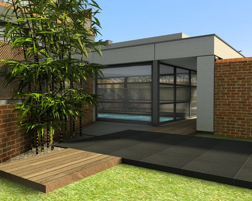 Extension d 39 une maison de ville avec piscine int rieure for Piscine interieure