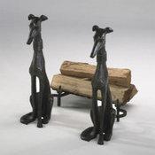 greyhound fireplace wood holders