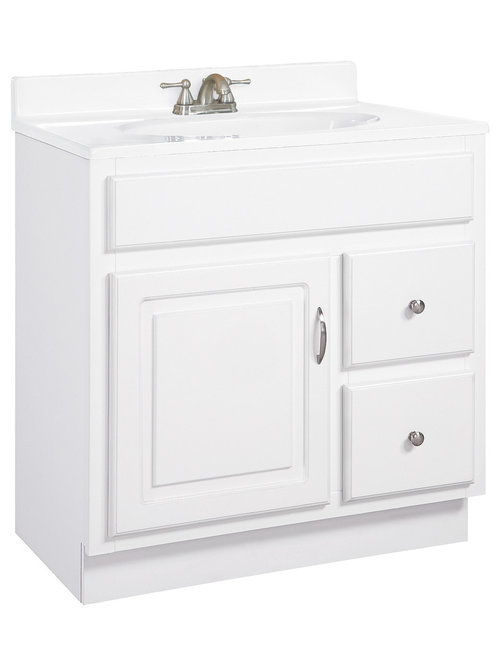 Traditional 30 Inch With Drawers Bathroom Vanities Houzz