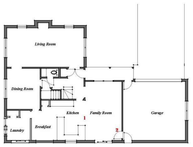 Renovation ideas playing with a colonial s floor plan for Colonial open floor plans