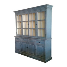 Hong Design Double Deck Glazing Cabinet China Cabinets And Hutches