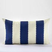 Limoges Ikat Stripe Lumbar Throw Pillow