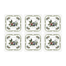 Pimpernel pimpernel holly and ivy coasters set of 6 2010268038