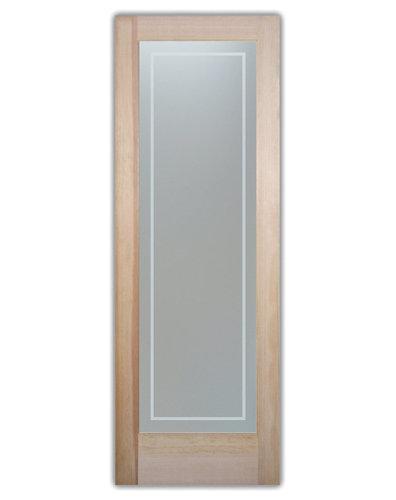 Frosted glass bathroom doors - Bathroom Doors Interior Glass Doors Frosted Pinstripe Border