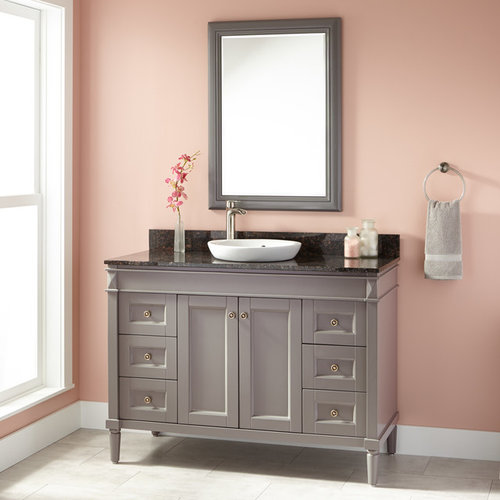 24 Alvelo Vanity For Semi Recessed Sink: Semi-Recessed Sink Vanities