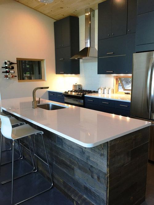 Lake House Kitchen With IKEA Cabinets And Semihandmade Doors