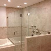Frameless Shower Enclosure with 90 degree return