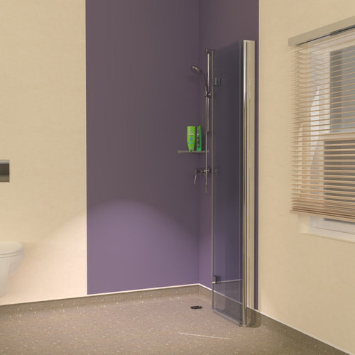 Space Saving Wet Room Folding Showerwall Screen Ideas