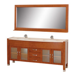 White Porcelain Sinks The Daytona 71 Double Bathroom Vanity Set