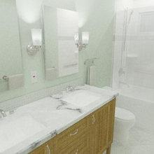 Berkeley Grizzly Peak Ranch Transitional Guest Bath