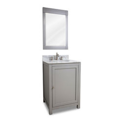 "Shaker Vanity Set With Marble Top - This set consists of 24"" wide ..."