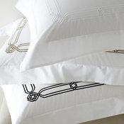 Frette Saffo Embroidered Percale Bedding