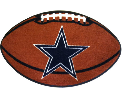 Fanmats Nfl Dallas Cowboys Football Shaped Rug Game Room And Bar Decor