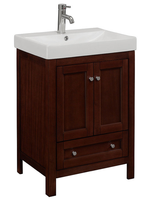 Amazing 24inch Wide Single Sink Bathroom Vanity In Brown  Overstock Shopping