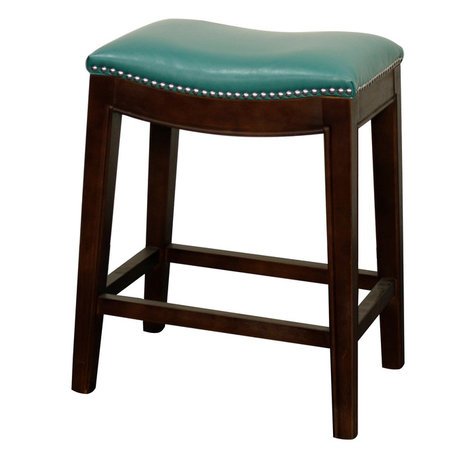 Turquoise Faux Leather Bar Stools And Counter Stools Houzz