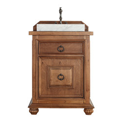 James Martin Furniture Mykonos 26 Cinnamon Single Vanity With Black