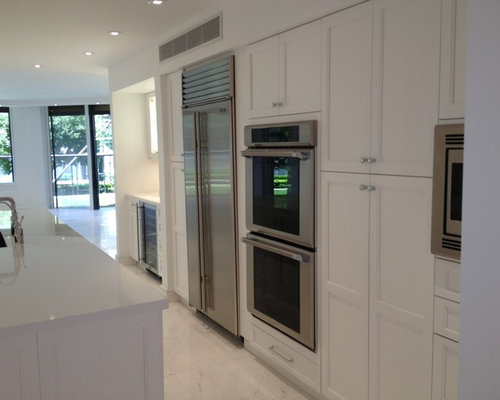 Moderate White Cabinets Home Design Ideas, Pictures, Remodel and Decor
