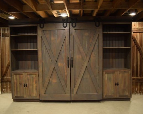 Barn Door Entertainment Cabinets