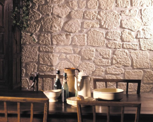 Buttress Wall Design Example : Budget Stone Buttress Wall Dining Room Design Ideas, Renovations ...