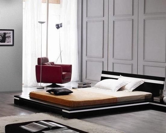 exclusive wood elite modern bedroom set contemporary sleek design