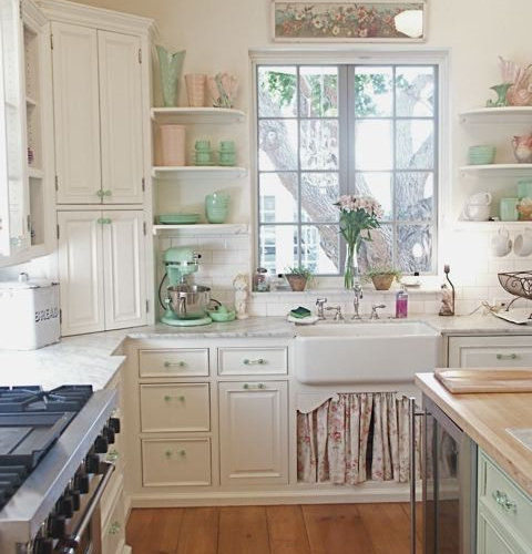Chic Home Lighting Ideas: Shabby Chic Kitchen Home Design Ideas, Pictures, Remodel