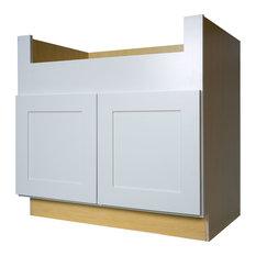 Everyday Cabinets - White Shaker Farm House Apron Sink Base Kitchen ...