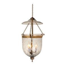 Tulip Etching Hundi Glass Bell Jar Lantern 9