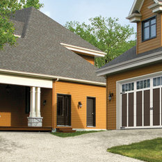 Farmhouse garage doors and openers houzz for Farm style garage doors