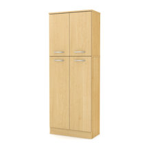 South Shore - South Shore Fiesta Collection Storage Pantry, Natural Maple - This Fiesta Storage ...