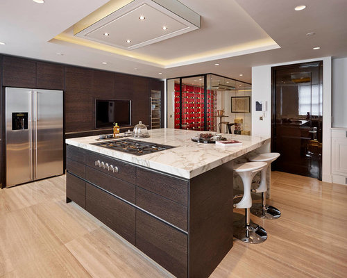 Flat Panel Kitchen Cabinets Home Design Ideas Pictures