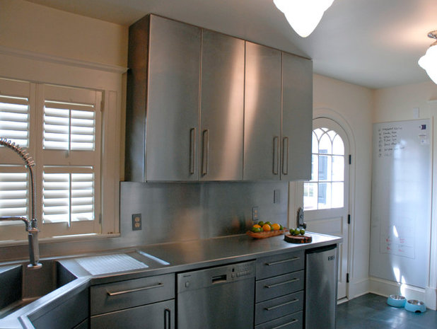A Hardworking Scullery Covered in Stainless Steel