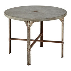 HomeStyles Urban Outdoor Round Dining Table Clear Coated Rusted