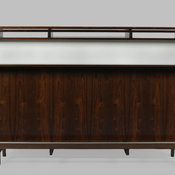 Midcentury Free Standing Bar with Laminate Top, Liquor Storage from Denmark