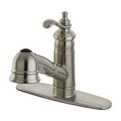 Gourmetier Templeton Pull-Out Faucet Kitchen Faucet, Satin Nickel