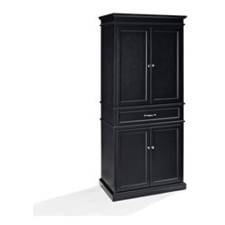 Crosley Furniture - Crosley Furniture Parsons Pantry in Black - Add function and style to your ...