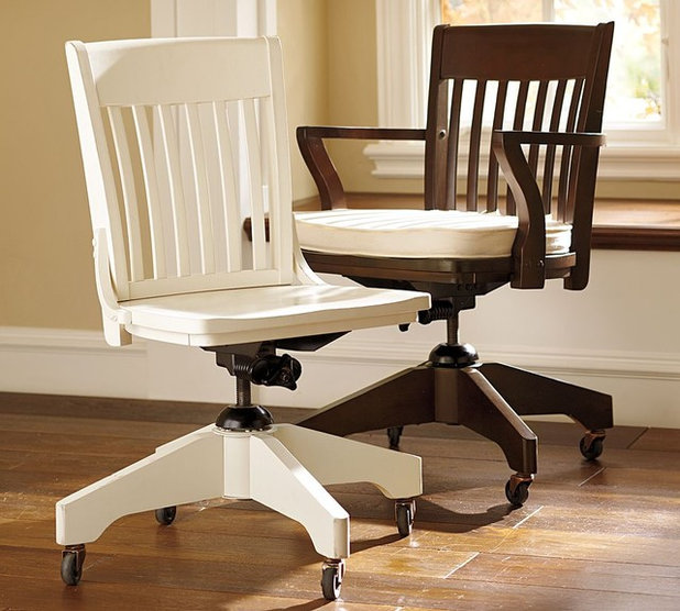 Vintage school desks go to the head of design class - Pottery barn schoolhouse chairs ...