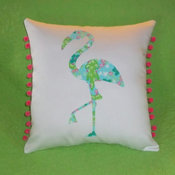 Flamingo Pillow by My Pink and Green Garden