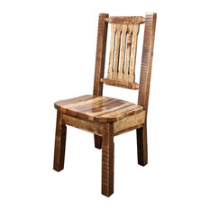 rustic dining side chairs houzz